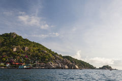 Schöne Tropeninsel mit nettem Bungalow KOH TAO Island Lizenzfreie Stockbilder