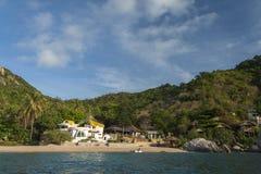 Schöne Tropeninsel mit nettem Bungalow KOH TAO Island Stockbild