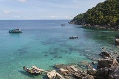 Schöne Tropeninsel mit nettem Bungalow KOH TAO Island Lizenzfreies Stockbild