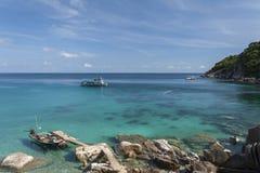 Schöne Tropeninsel mit nettem Bungalow KOH TAO Island Lizenzfreie Stockfotos