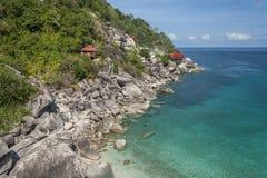 Schöne Tropeninsel mit nettem Bungalow KOH TAO Island Lizenzfreies Stockfoto