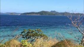 Schöne tropische Ansicht - Bananeninsel nahe Busuanga-Insel, Philippinen stock video footage