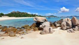 Schöne tropische Landschaft, Strand Bai Dai stockfotografie