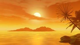 Schöne tropische Szene Lizenzfreies Stockfoto