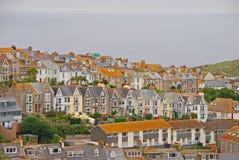 Schöne und einzigartige Architektur von Häusern in St. Ives Cornwall lizenzfreie stockfotos