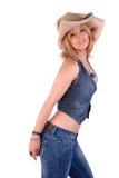 Schöne und elegante fällige Frau, mit einem Hut Lizenzfreies Stockfoto