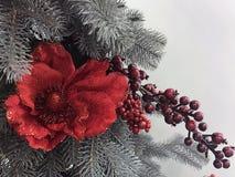 Schöne und glänzende Weihnachtsspielwaren, Dekoration Stockbild