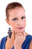 Schöne und glückliche von mittlerem Alter Frau lizenzfreie stockbilder