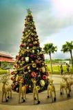 Schöne und kreative Weihnachtsbaum-Dekoration Stockfotografie