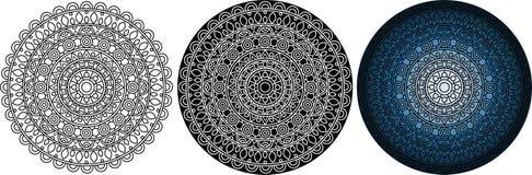 Schöne und mysteriöse Mandala für Malbuch Rundes Muster Stockfotografie