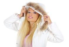schöne und reizvolle Blondine Stockfoto