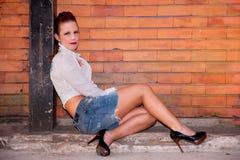 Schöne und reizvolle Mittleralter Frau stockfoto