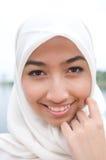 Schöne und süße asiatische malaysische moslemische Dame Stockbild