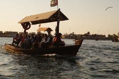 Schöne und Spaß Bootsfahrt bei Dira Dubai Stockfotos