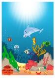 Schöne Unterwasserweltkarikatur vektor abbildung