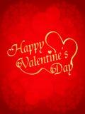Schöne Valentinstagauslegung auf rotem backgroun Stockbilder