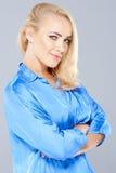 Schöne verlockende blonde Frau Lizenzfreie Stockfotos