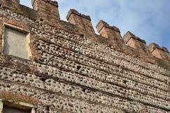 Schöne Verona-Wände Castelvecchio Lizenzfreie Stockfotos