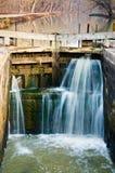 Schöne Verriegelung und Kanal Stockbild