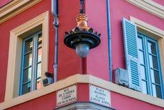 Schöne verschiedene Architektur von Nizza, Frankreich Lizenzfreies Stockfoto