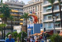 Schöne verschiedene Architektur von Nizza, Frankreich Stockbild