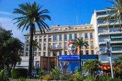 Schöne verschiedene Architektur von Nizza, Frankreich Lizenzfreies Stockbild