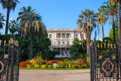 Schöne verschiedene Architektur von Nizza, Frankreich Stockfoto