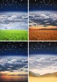 Schöne verschiedene Landschaften Stockfotos