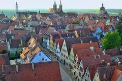 Schöne Vogelperspektive an Rothenburg-ob der Tauber Stockfoto