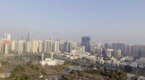 Schöne Vogelperspektive von Abu Dhabi, UAE Stockfotografie