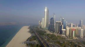 Schöne Vogelperspektive von Abu Dhabi, UAE Stockfoto
