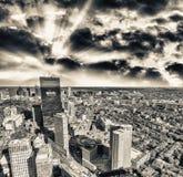 Schöne Vogelperspektive von Boston, MA lizenzfreie stockbilder