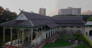 Schöne Vogelperspektive von Kedah Malaysia von der Draufsicht Balairung Seri Kedah stock video