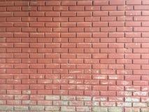 Schöne Wand der Wand des roten Backsteins A Stockbilder