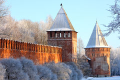 Schöne Wand des Schlosses Stockfotos