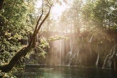 Schöne Wasserfälle lizenzfreies stockfoto
