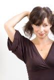 Schöne weiße Frau lizenzfreie stockbilder