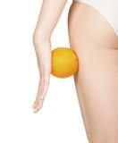 Schöne weibliche Abbildung mit Orange Lizenzfreie Stockfotos