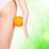 Schöne weibliche Abbildung mit Orange Lizenzfreie Stockbilder