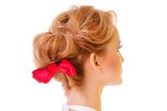 Schöne weibliche Frisur Stockfotografie