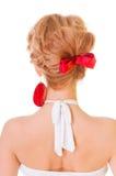 Schöne weibliche Frisur Stockbilder