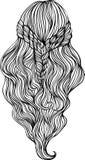 Schöne weibliche Frisur vektor abbildung