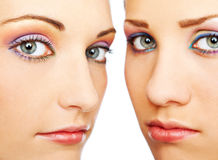 Schöne weibliche Gesichter lizenzfreies stockbild