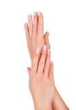 Schöne weibliche Hände stockbild
