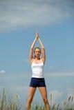 Schöne weibliche Meditation Stockfotos