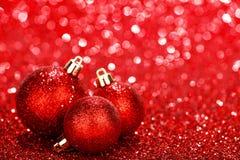 Schöne Weihnachtsbälle Lizenzfreies Stockfoto