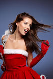 Schöne Weihnachtsfrau Lizenzfreie Stockbilder