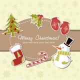 Schöne Weihnachtskarte Lizenzfreie Stockfotos