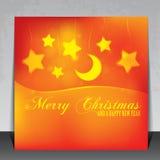 Schöne Weihnachtskarte Stockbild