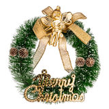 Schöne Weihnachtskrone lokalisiert auf weißem Hintergrund Lizenzfreies Stockfoto